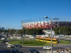 A new Warsaw tram in front of Stadion Narodowy