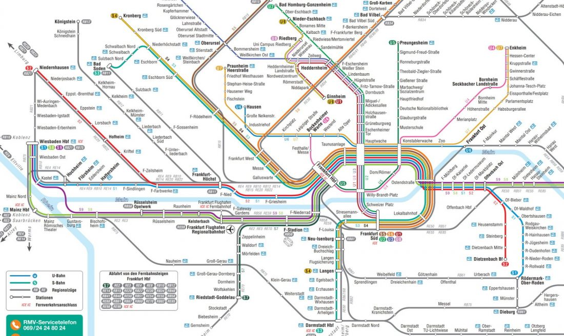 Frankfurt transport map